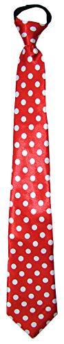 Das Kostümland Fifties Krawatte mit Punkten Rot