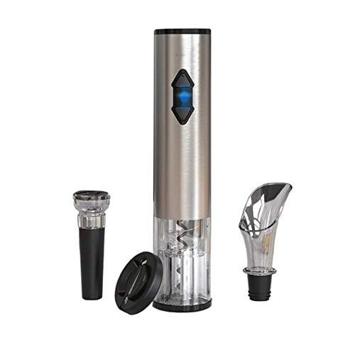SMSOM Conjunto de abridores de botellas de vino eléctrico - abrelatas de corcho automático Interruptor de cabullo inalámbrico motorizado con cortador de láminas de tapón de vacío Vino del aire del vin