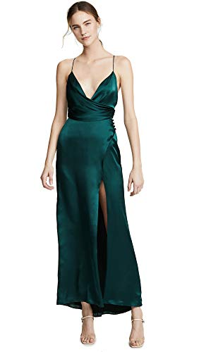 Fame and Partners Women's The Ferne Dress, Dark Forest, Green, 10