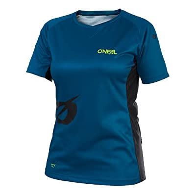 O'NEAL | Mountainbike-Trikot | MTB Mountainbike DH Downhill FR Freeride | Atmungsaktives Material, Weiblicher Schnitt | Soul Women's Jersey | Damen | Petrol | Größe L