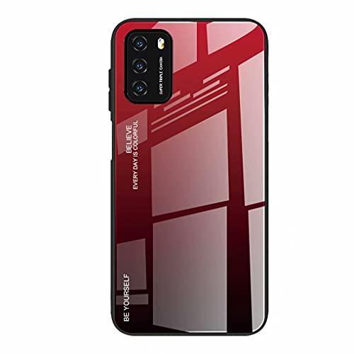 LINER Funda para Xiaomi Redmi 9T Estuche, Vidrio Carcasa Ultra Lindo y Blanda Caso Resistente a Caídas Degradado de Color Estilo Modern Compatible con Xiaomi Redmi 9T - 5