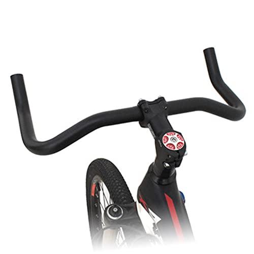 hujio Bicicleta Triatlón Manillar, Aoligei Agarre de Cuerno, Mejora la Comodidad de Conducción para Bicicleta de Carreras, MTB, Bicicleta de Carretera, 25.4mmX390mm