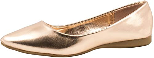 Elara Ballerina da Donna Confortevole Flat Chunkyrayan Bronzo 6282-Bronze-38