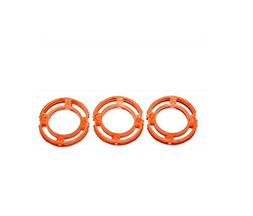 3x ORANGE Blade Retaining Ring Holder For Philips Norelco S9732 S9733 S9751 S9781 S9911 S9988 SP9811 SP9820 SP9821 SP9851 SP9860 SP9861 SP9862 SP9863 SP9880 SW6700 SW6710 SW7700 SW9700 422203624351