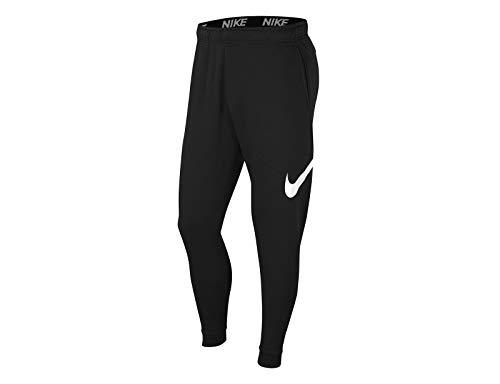 NIKE Dri-FIT - Pantalón de Entrenamiento para Hombre, Color Negro y Blanco