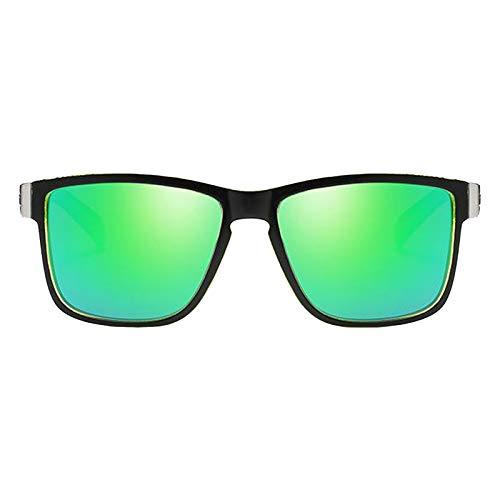 Perfeclan Gafas de sol deportivas polarizadas Anti-impacto gafas de sol de conducción para hombres gafas de ciclismo de pesca gafas de sol de bicicleta de Marco - Verde