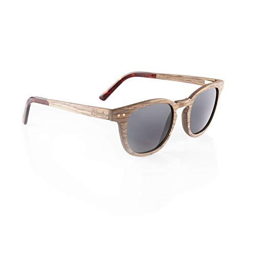 Iwood Sonnenbrille aus Holz/Echtholz/Echtholzbrille/Holzbrille - Modell 10 Walnuss - für Damen und Herren - UV400 mit Polarisationsfilter (polarisiert) - Brillenmanufaktur aus Deutschland