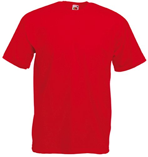 Fruit of the Loom Valueweight T-Shirt S M L XL XXL XXXL (3XL, Rot)