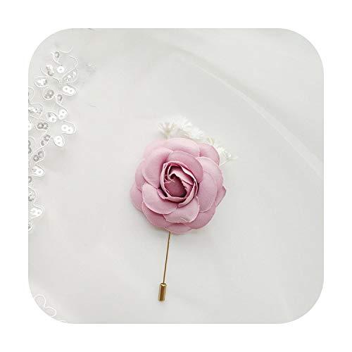 Arte Flor Boda Ramillete Pulsera de Seda Rosas Muñeca Flor Brazalete Pulseras De Dama De Honor Hombre Boutonniere Ojal Boda Ramillete Pin-F Boutonniere-