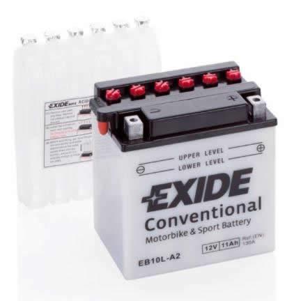 Batteria moto EXIDE YB10L-A2 EB10L-A2 12V 11AH 160A dimensioni 135X90X145MM
