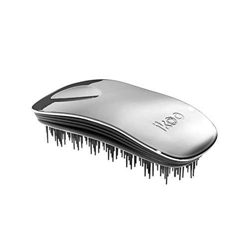 Ergonomische & hochwertige ikoo home oyster metallic Haarbürste mit schwarzem TCM-Borstenpanel für ein tägliche Wellness Erlebnis