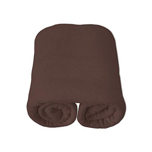 Nurtextil24 Frottee Bettlaken Baumwolle Betttuch Haustuch ohne Gummizug (weitere Farben & Größen) Braun 150 x 250 cm