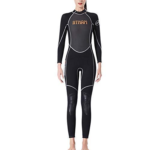 HO-TBO Dames Wetsuit, vrouwen Fullsuit mode Jumpsuit 3mm Premium Neopreen Wetsuit met Rits aan de achterkant Ideaal voor beginners en sportieve fans