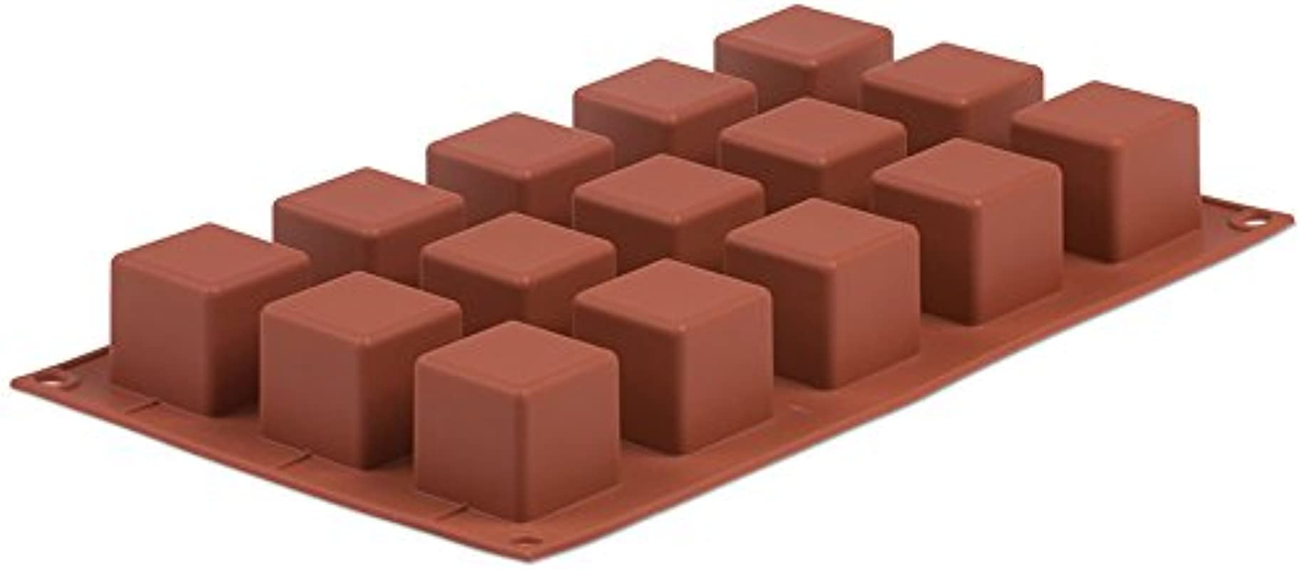 Pavoni Orange Nonstick Cubes 15 Molds