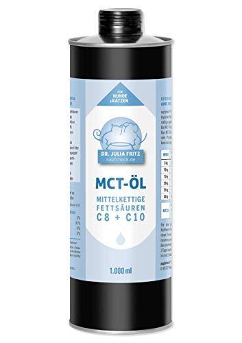 napfcheck Aceite MCT, ácidos grasos de Cadena Media C8 y C10, para Perros y Gatos, 1000 ml