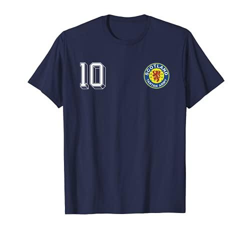 Maglia vintage da calcio Scozia con stemma in tartan Army Maglietta
