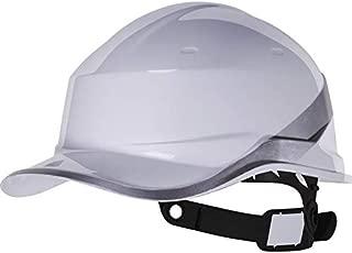 Venitex Delta Plus Diamond V Baseball Cap Style Safety Helmet Hard Hat White