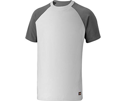 Dickies T-Shirt, Größe:L, Farbe:Weiss/grau