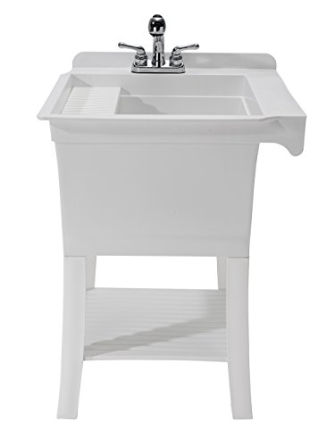 CASHEL 1980-32-01 The Maddox Workstation - Fully Loaded Sink Kit, White