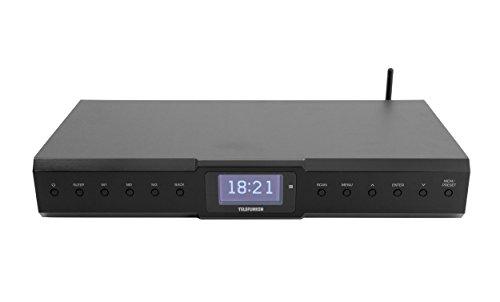 Telefunken RI2000 Internet-Radio und HiFi-Tuner mit Senderspeicher/Sleep-Funktion/Fernbedienung Schwarz