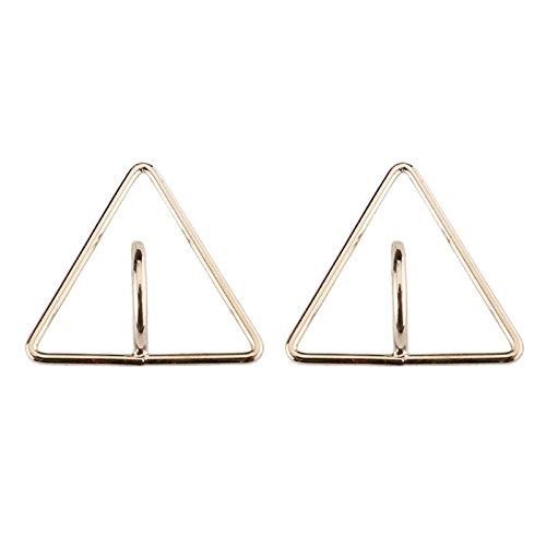 Aeici Plata Pendientes de Moda Mujer Diseño Unico Triángulo Astilla 20X20Mm