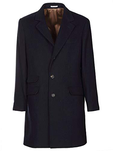 Brunello Cucinelli Luxury Fashion Uomo MT4979039C210 Blu Cashmere Cappotto   Primavera-Estate 20