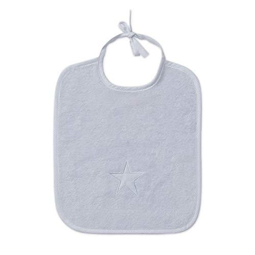 MÖVE Stars slabbetje, zilver, 29 x 34 cm