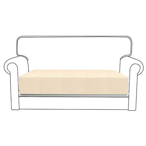 78Henstridge - Funda para cojín de sofá de licra y poliéster, funda elástica protectora de sofá, poliéster, beige, 3 Seat
