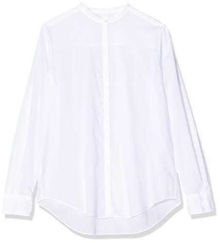 BOSS Damen Efelize_17' Bluse, Weiß (White 100), 44