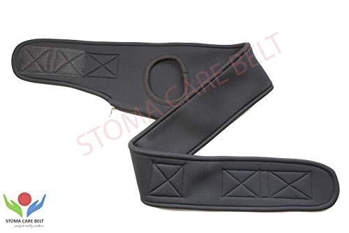 Travel Blue Safe Belt Secure Hidden Concealed Money iléostomie with Zip-Black