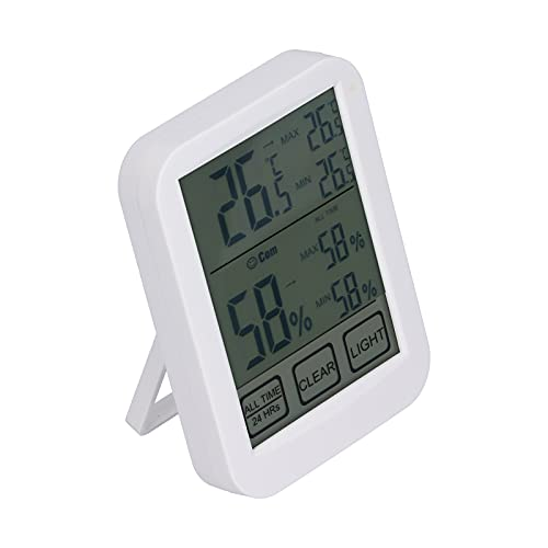 KUIDAMOS Monitoraggio della Temperatura e dell'umidità, Periodo di aggiornamento del sensore di umidità 10s per Stanza della Chitarra per Il Soggiorno per Serra per Il seminterrato per Stanza