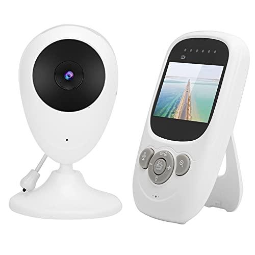 Monitor para bebés, cámara para perros y mascotas, cámara digital inalámbrica WiFi con pantalla LCD de 2,4 pulgadas, monitor con sensor de temperatura, talkback bidireccional(EU)