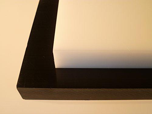 B&T Metall Kunststoffplatten PA6 Natur Platten 8,0 mm stark Polyamid im Zuschnitt Größe 10 x 60 cm (100 x 600 mm)