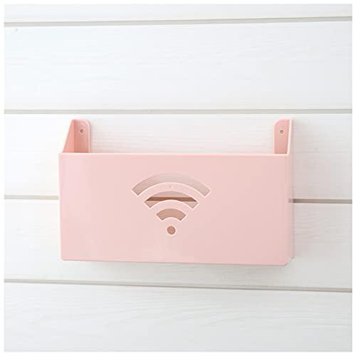 Caja de almacenamiento de enrutador montado en la pared Soporte de caja de estante Wifi Soporte de placa de enchufe montado en la pared Organizador de almacenamiento de cables Decodificador de red(Col
