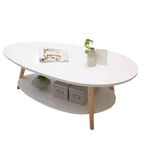 ZRRtables Tavolo da caffè Scandinavo A 2 Livelli Soggiorno Moderno Tavolino Salotto Scrivania per Laptop Divano A Forma di Goccia d'Acqua Tavolo D'angolo Tavolo da Pranzo in MDF Tavolo Fisso
