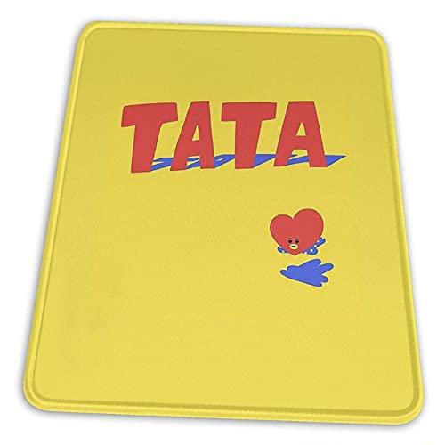 Tapis de Souris Tata Base en Caoutchouc antidérapante pour Ordinateur de Bureau avec Bord Cousu