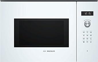 Bosch Serie 6 BEL554MW0 - Microondas integrable / encastre con grill, 25 L, 900W / 1200 W, color blanco
