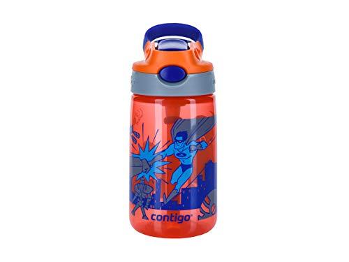 Contigo Gizmo Flip Botella, Unisex-Baby, Necturine with Superhero, 420 ml