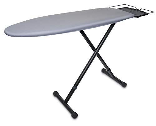 Braun CareStyle Bügeltisch IB3001 BK – Bügelbrett perfekt für Dampfbügelstationen, dampfdurchlässige Ablagefläche, Bezug aus 100 % Baumwolle, 122 x 40 cm, schwarz/grau