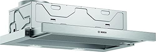 Bosch Hausgeräte DFM064W54 Serie 2 Flachschirmhaube/B / 60 cm/Silbermetallic/wahlweise Umluft- oder Abluftbetrieb/Wippenschalter/Metallfettfilter (spülmaschinengeeignet)