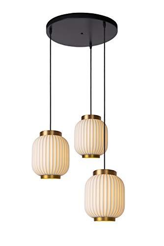 Lucide GOSSE – Lámpara colgante – 3 x E27 – Blanco
