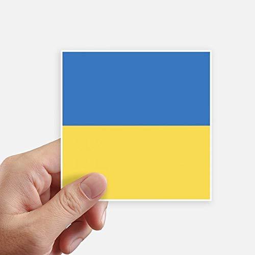 DIYthinker Oekraïne Nationale Vlag Europa Land Vierkante Stickers 10 Cm Muur koffer Laptop Motobike Decal 8 Stks