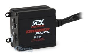 MTX Audio 2-Channel Power Sports Amplifier (MUD50.2) 200W Peak (100W RMS) 2-Channel Ultra-Compact Class D Power Sports Amplifier for Install in Car, Off-Road, SSV and more...