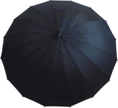 Paraguas de negocios con 16 acciones de refuerzo, mango largo, barra recta,...