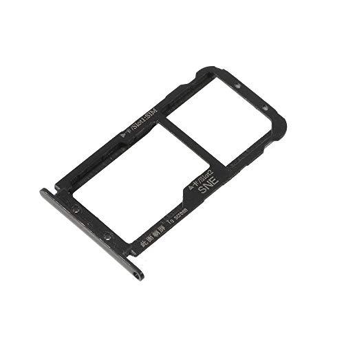 jbTec Dual SIM-Tray/SD-Card Karten-Halter passend für Huawei Mate 20 Lite - Slot Schlitten Kartenhalter Karte Rahmen Simkarten Simkartenhalter, Farbe:Schwarz