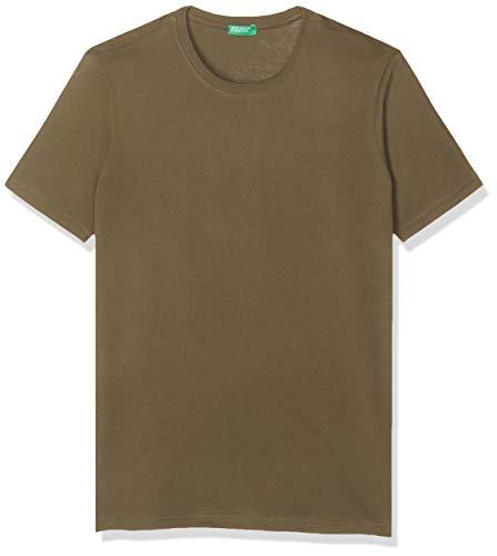 United Colors of Benetton T-Shirt Camiseta, Verde (Verde Militar 35a), Talla única (Talla del Fabricante: X-Large) para Hombre