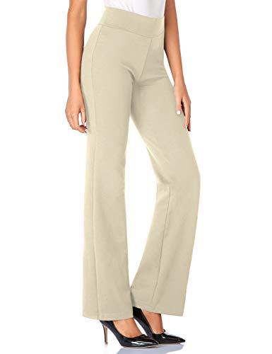 Tapata Damskie spodnie ze streczu, 76 cm/81 cm/86 cm, z wysoką talią, długie, regularne, do pracy, na co dzień
