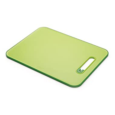 Joseph Joseph 60027 Slice & Sharpen Cutting Board with Integrated Knife Sharpener, Large, Green