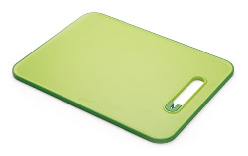 Joseph Joseph Slice & Sharpen Cutting Board with Integrated Knife Sharpener, Large, Green