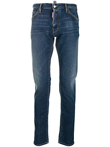 DSQUARED2 Luxury Fashion Herren S74LB0566S30664470 Blau Elastan Jeans | Herbst Winter 19